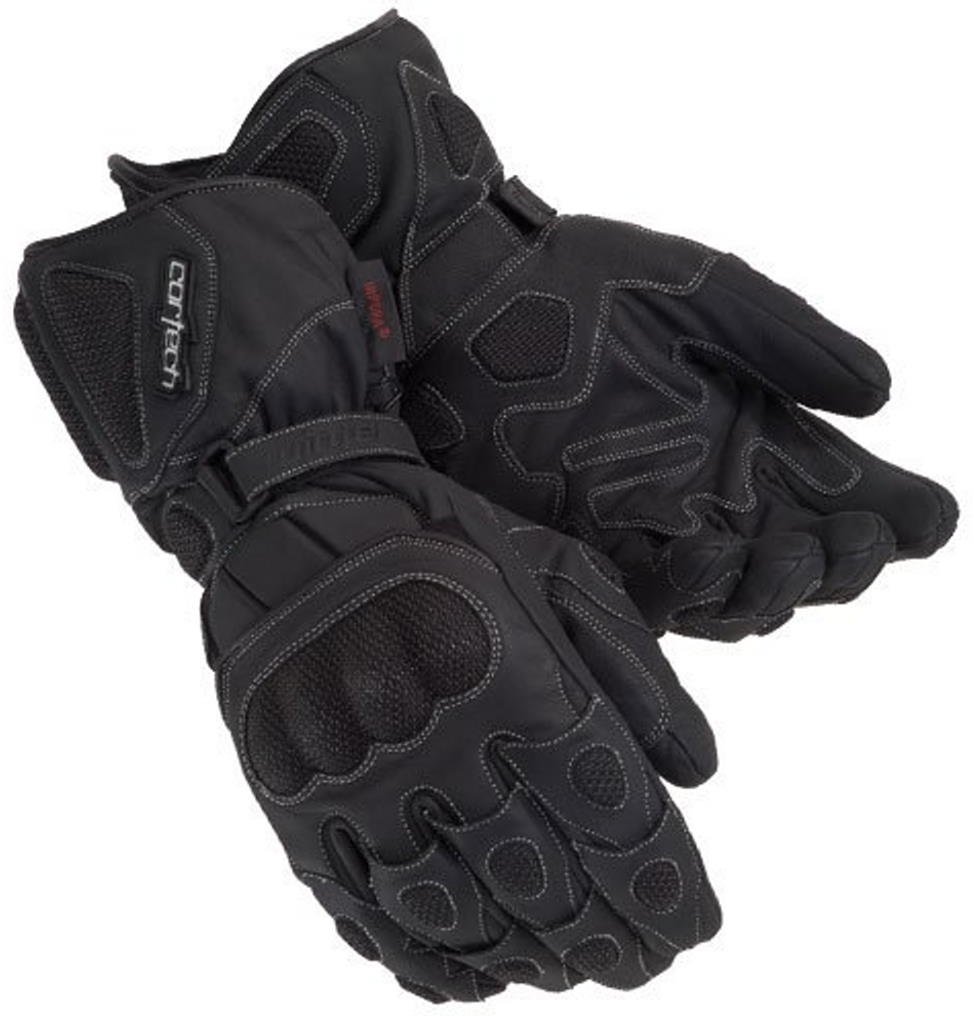 Cortech Scarab Winter Leather Motorcycle Glove Black