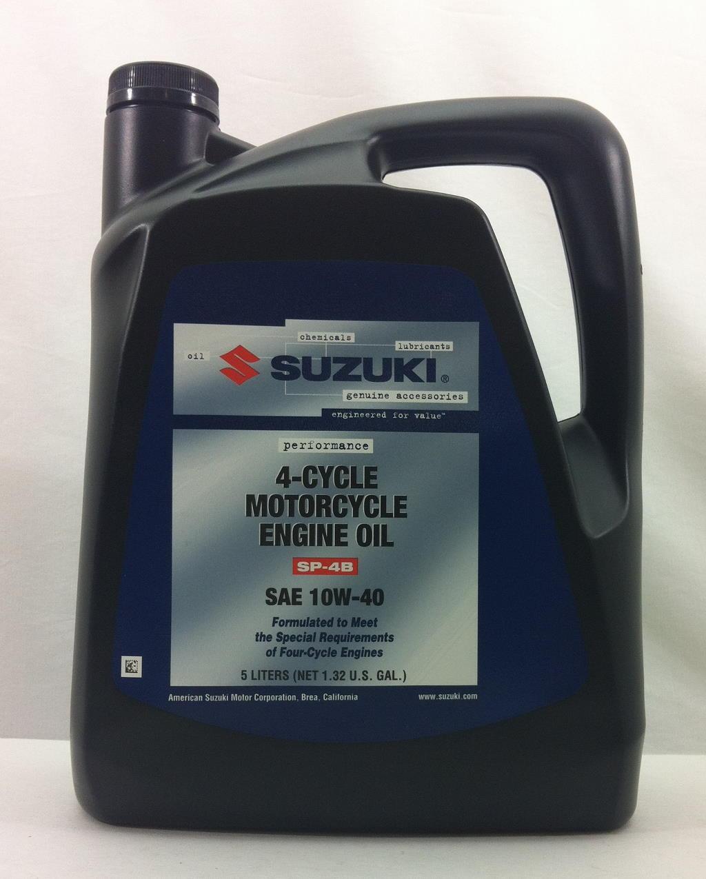 Suzuki Performance 10w40 Motorcycle Oil 5 Liter Bottle Ebay