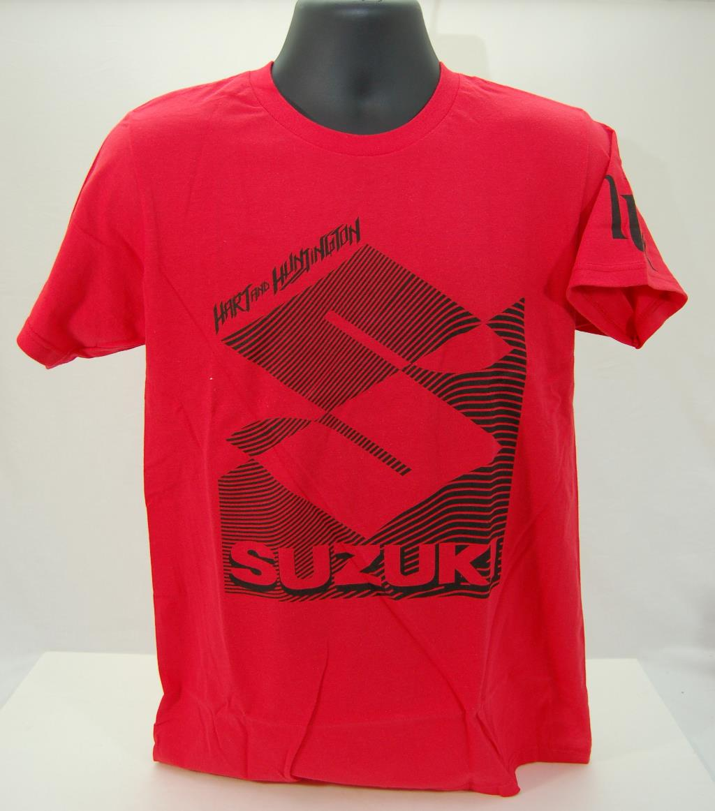 suzuki hart huntington cross the line t shirt red ebay. Black Bedroom Furniture Sets. Home Design Ideas