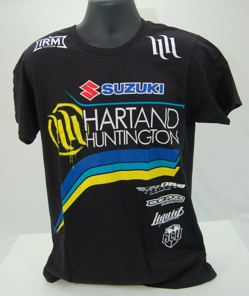 suzuki hart huntington retro t shirt black ebay. Black Bedroom Furniture Sets. Home Design Ideas