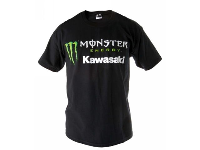 Kawasaki Monster Energy Short Sleeved Black T Shirt