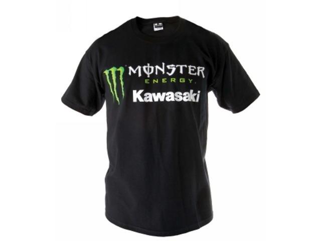 Kawasaki Monster Energy Short Sleeved Black T Shirt